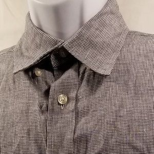 Orvis Blue/White Check Short sleeve shirt Sz M